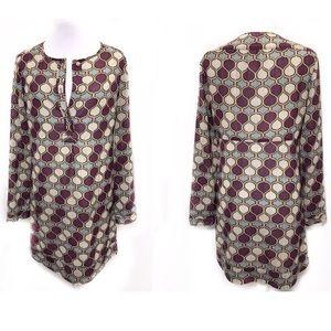 Tory Burch 6 Purple Shift Tunic Dress Moroccan